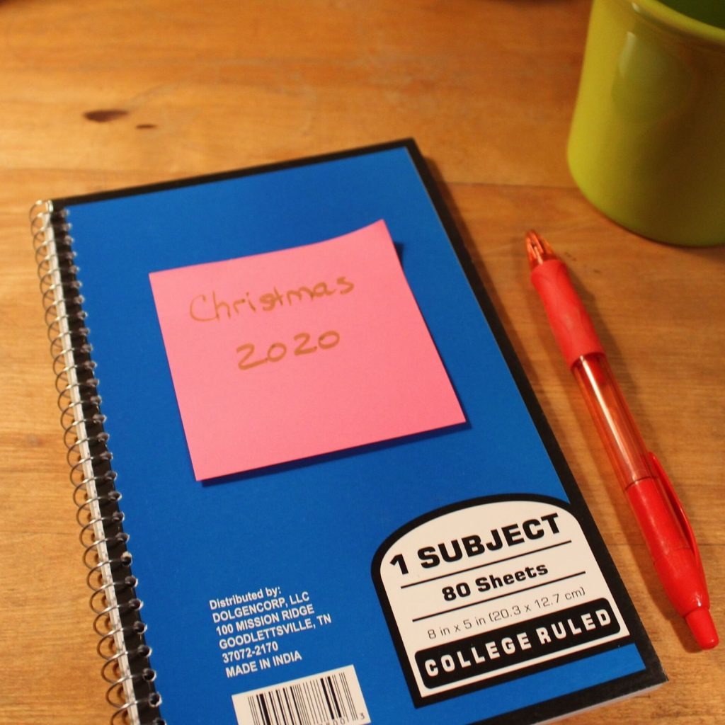 organize your christmas gift giving into a notebook