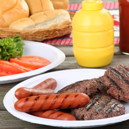 you can't get more 'picnic' than hamburgers and hot dogs