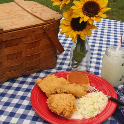 try fried chicken for a portable summer meal