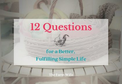 12 questions to ask for a better, fulfilling simple life