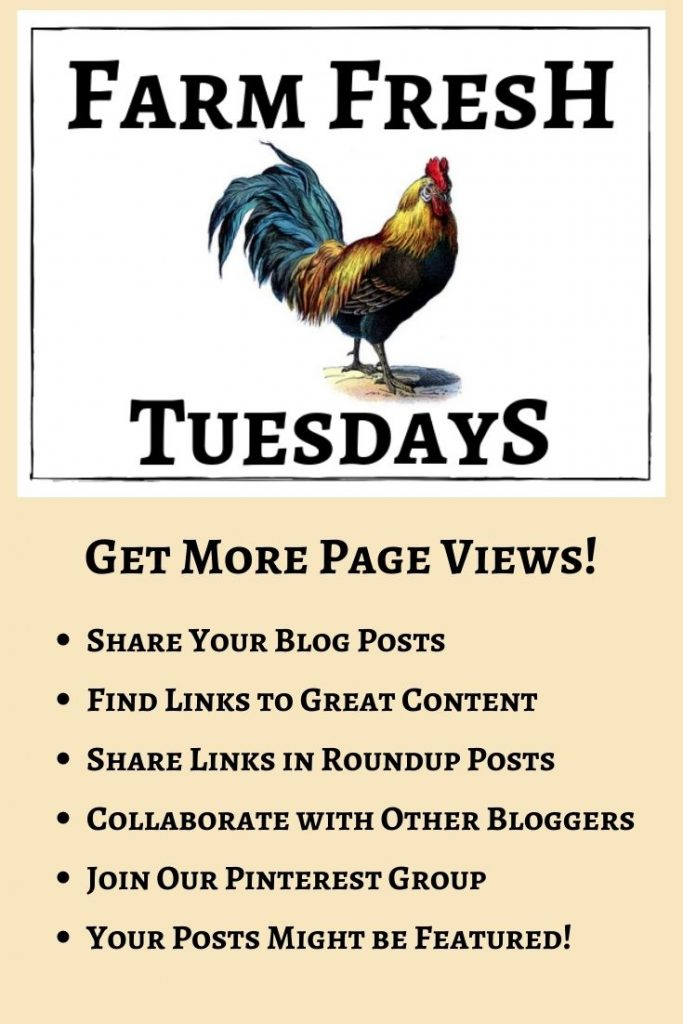 Come join us on the Tuesday's Farm Fresh Blog Hop 65!