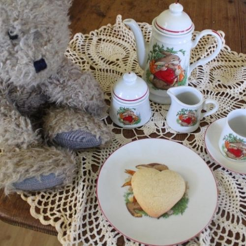 serve a kid friendly snack with a tea set