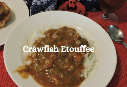 crawfish etouffee is comfort food