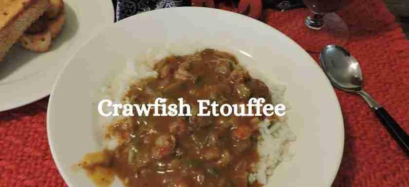 crawfish etouffee is comfort food