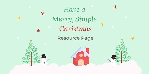have a merry simple christmas e-book resource page