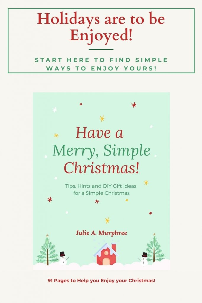 Are you ready to slow the hectic pace and have a Simple Christmas?  Learn how here!