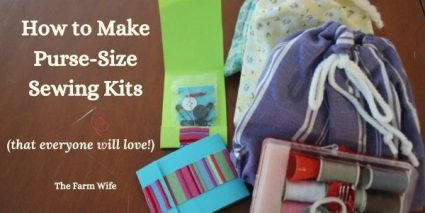 assorted purse-size sewing kit