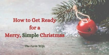 jingle bells and pine stems for a merry, simple Christmas