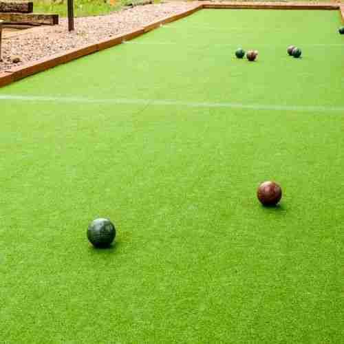 fun lawn games include bocce ball