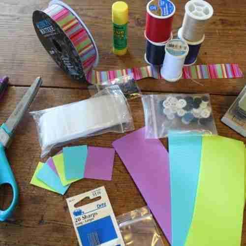 supplies to make match book sewing kits