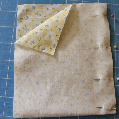 pin the sides of a drawstring sewing kit