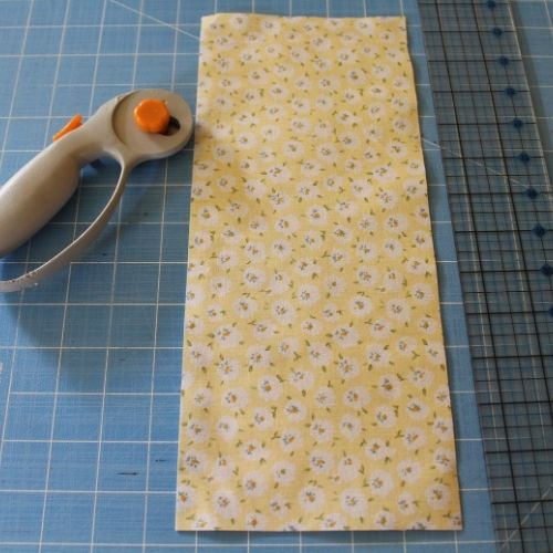 cut fabric for drawstring sewing kits