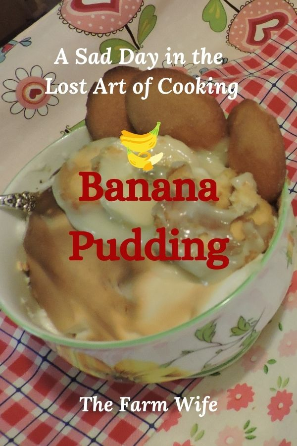 Banana Pudding made from scratch is the perfect example of the Lost Art of Cooking.  Learn how to bake from scratch and bring the flavor back into your meals!