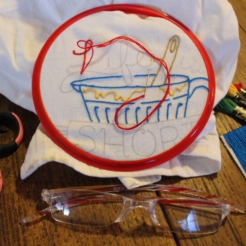 embroidered dishcloths make great gift ideas