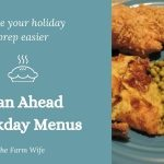 holiday weekly menu planning