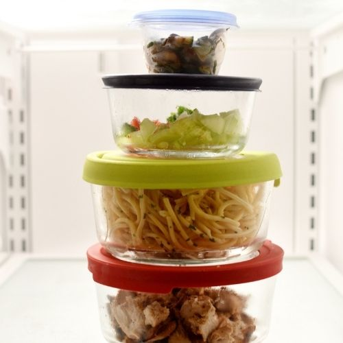 a stack of leftovers to use with plan ahead menus