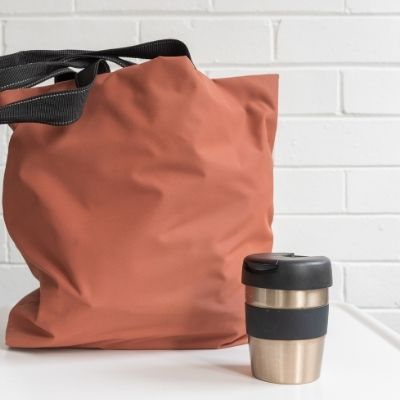 a tote bag and thermos is the start of a Black Friday Tool Kit