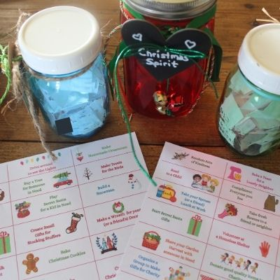 a selection of tabs to add to your Christmas in a Jar