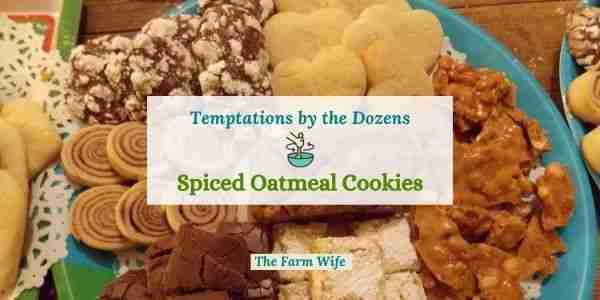 Spiced Oatmeal Cookies at the Farm Fresh Blog Hop 82
