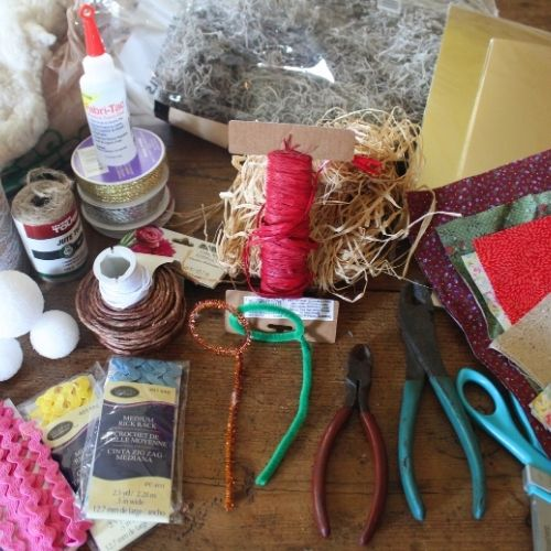 craft supplies to create a kit for a crafter