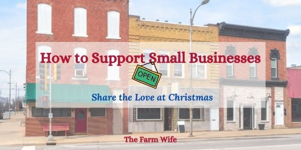 a small town that needs support for small businesses