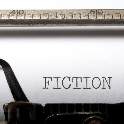 the word fiction on an old typewriter