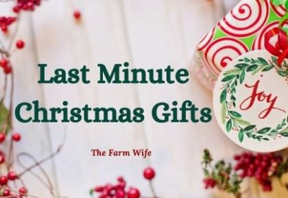 Last Minute Homemade Gift Ideas that are frugal and delicious!