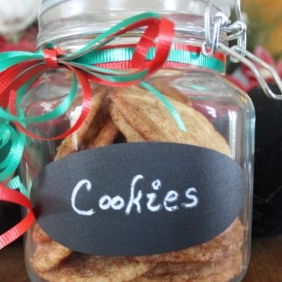 a filled cookie jar makes a great idea for last minute gifts