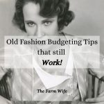 budgeting tips from the 30s
