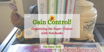 get organized with notebooks and gain control of the paper clutter