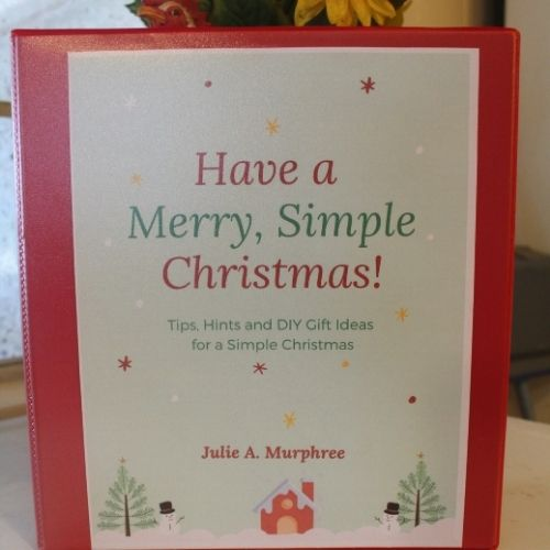 Have a Merry, Simple Christmas notebook
