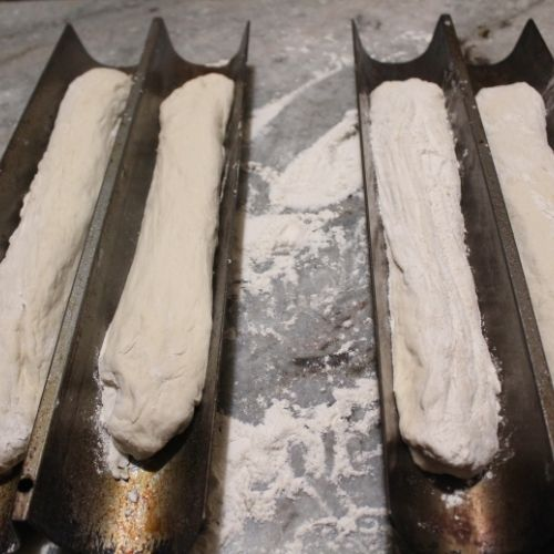 forming yeast bread into loaves