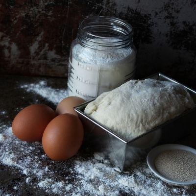 baking bread series - bread proofing