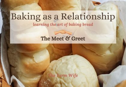 baking as a relationship - meet and greet