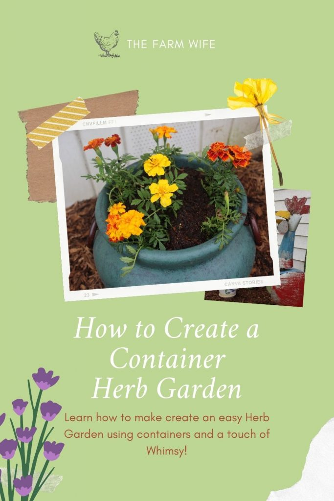 Having a container herb garden is one of the easiest ways to grow herbs. They can be placed close to the kitchen door, and can be fit into most any space.