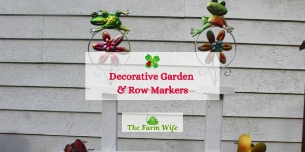 decorative garden and row markers