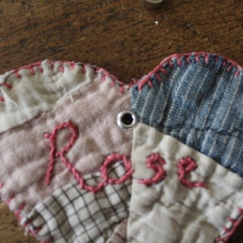 handmade quilted gift tag