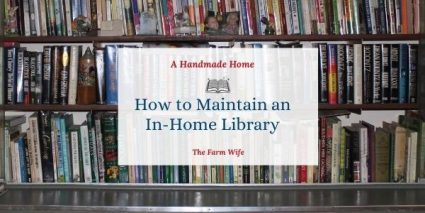 maintain an in-home library