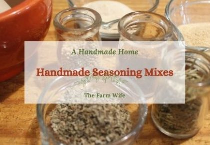 handmade seasoning mixes