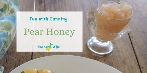 how to make pear honey