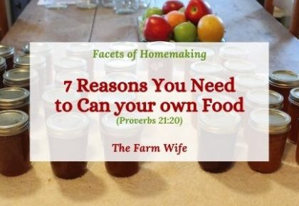 reasons you need to can your own food