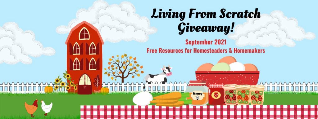 living from scratch giveaway