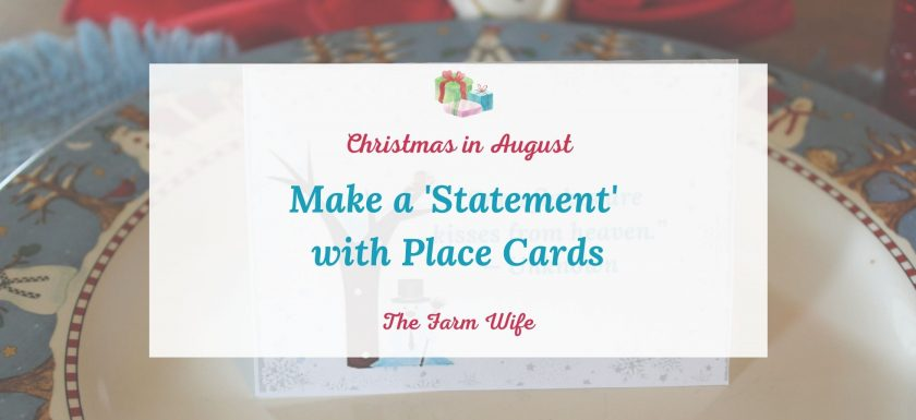 handmade place cards