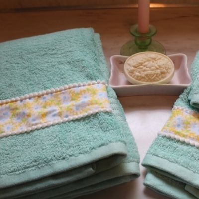 hand embellished dish towels