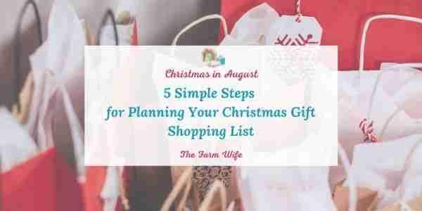 christmas gift shopping list