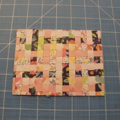 handwoven greeting card